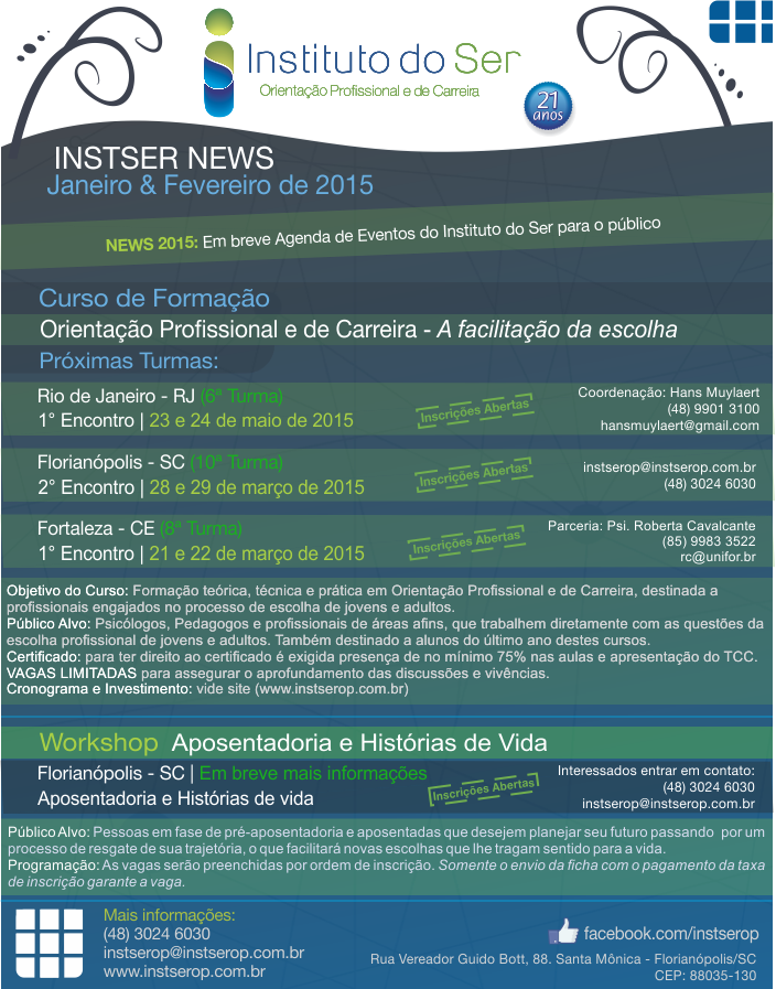 INSTSER NEWS - Jan e Fev 2015